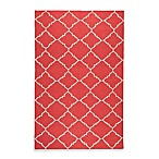 Winslow Trellis Rug in Red/Ivory