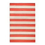 Montclair Rug in Red/Ivory Stripe