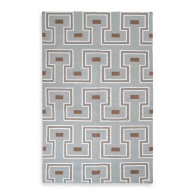 Alamada Rug in Pale Blue/White/Grey/Brown
