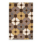 Amadora Rug in Geo Chocolate/Tan
