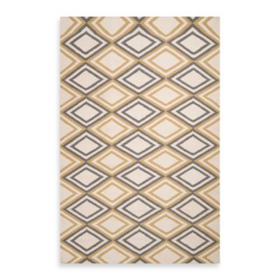 Amora 5-Foot x 8-Foot Rug in Ivory/Chartreuse/Grey