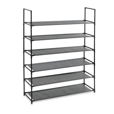 Studio 3B™ 6-Tier Fabric Storage Shoe Rack in Black