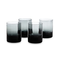 Kenneth Cole Reaction Home Ludlow Double Old-Fashioned Glasses in Blue (Set of 4)