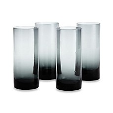 Kenneth Cole Reaction Home Ludlow Highball Glasses in Blue (Set of 4)