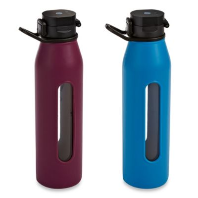 Takeya® Classic 22 oz. Glass Water Bottle with Flip Cap in Blue
