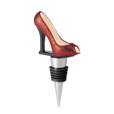 High Heel Wine Bottle Stopper in Red