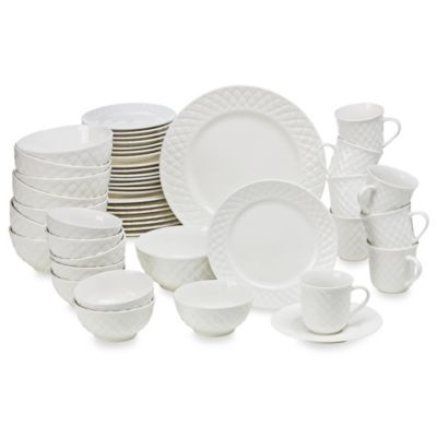 Gibson Antique Quilt 48-Piece Dinnerware Set