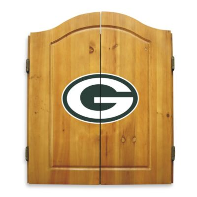 NFL Green Bay Packers Complete Dart Cabinet Set