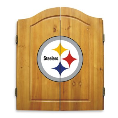 NFL Pittsburgh Steelers Complete Dart Cabinet Set