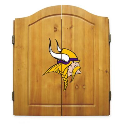 NFL Minnesota Vikings Complete Dart Cabinet Set