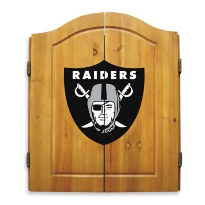 NFL Oakland Raiders Complete Dart Cabinet Set