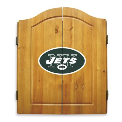 NFL New York Jets Complete Dart Cabinet Set