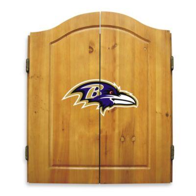 NFL Baltimore Ravens Complete Dart Cabinet Set