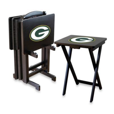 NFL Green Bay Packers TV Tray with Stand (Set of 4)