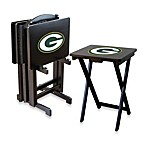 NFL® Green Bay Packers TV Trays with Stand (Set of 4)