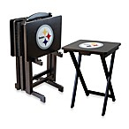 NFL® Pittsburgh Steelers TV Trays with Stand (Set of 4)