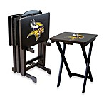 NFL® Minnesota Vikings TV Trays with Stand (Set of 4)