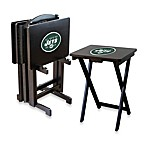 NFL® New York Jets TV Trays with Stand (Set of 4)