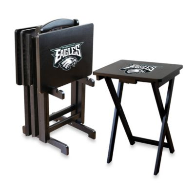 NFLA Philadelphia Eagles TV Trays with Stand (Set of 4)