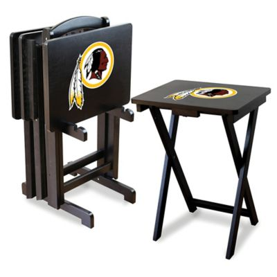 NFL Washington Redskins TV Tray with Stand (Set of 4)