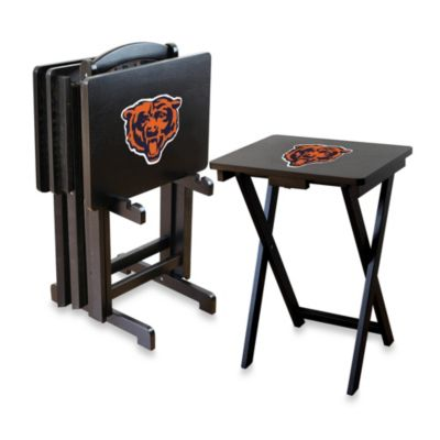 NFL Chicago Bears TV Tray with Stand (Set of 4)