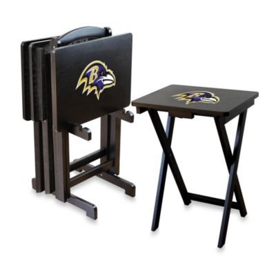 NFL Baltimore Ravens TV Tray with Stand (Set of 4)