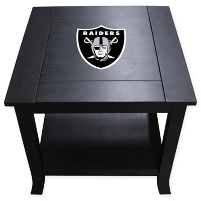 NFL Oakland Raiders Side Table