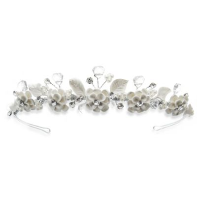 Pearlized Blooms and Rhinestone Flower Girl Tiara