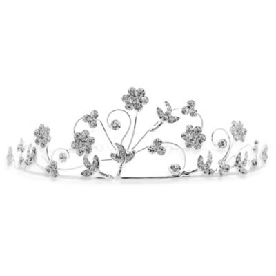 Daisy Sprays Rhinestone Flower Girl Tiara