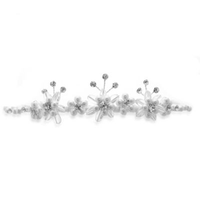 Petite Simulated Pearls and Rhinestones Flower Girl Tiara