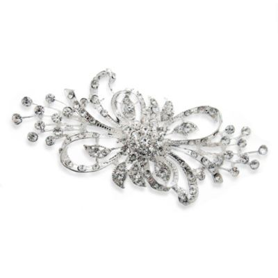 Rhinestone Ribbons Brooch