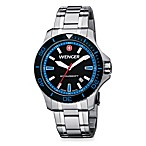 Wenger® Men's Sea Force Stainless Steel Bracelet Watch w/Black and Blue Dial