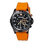 Wenger® Men's Limited Edition Squadron Rescue Chrono Black/Orange Watch Set