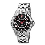 Wenger® Men's Squadron GMT Stainless Steel Watch