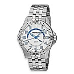 Wenger® Men's Squadron GMT White Dial Stainless Steel Watch