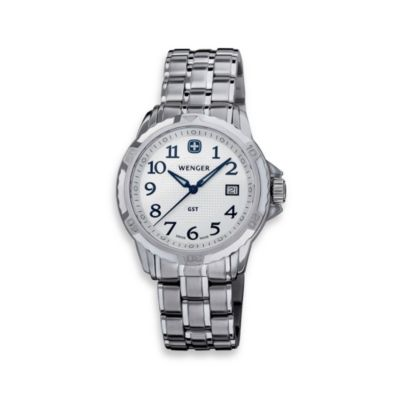Wenger® Men's GST Silver Dial Stainless Steel Watch