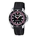 Wenger® Ladies Sea Force Rubber Strap/Pink Accents Watch