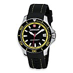 Wenger® Ladies Sea Force Rubber Strap/Yellow Accents Watch