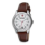 Wenger® Ladies Terragraph White Dial/Brown Strap Watch