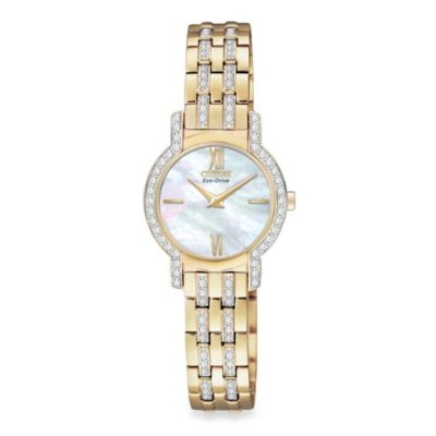 Citizen Ladies Eco-Drive Silhouette Gold-Tone Stainless Steel Bracelet with Swarovski® Crystals