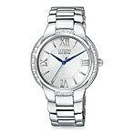 Citizen Ladies Eco-Drive Ciena Diamond Accent Stainless Steel Bracelet