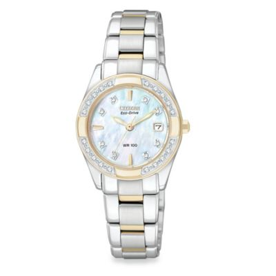 Citizen Ladies Eco-Drive Regent Two Tone Diamond Stainless Watch