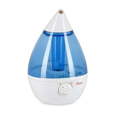 Crane Ultrasonic Cool Mist Drop Shape Humidifier in Blue
