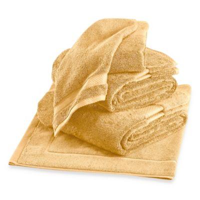 Metallic White Bath Towels