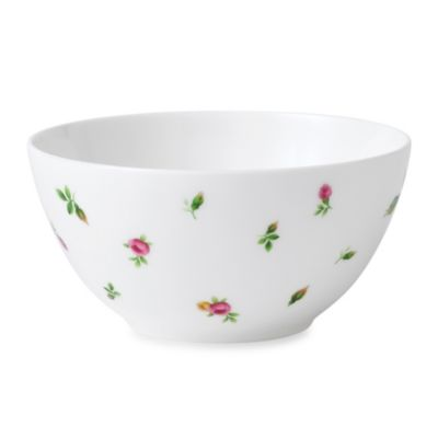 New Country Roses White 5.8-Inch Casual Cereal Bowl