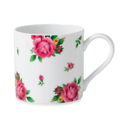 New Country Roses White 3.3-Inch Casual Mug