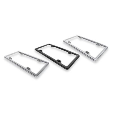 ClearCover License Plate Frame in Brushed Stainless
