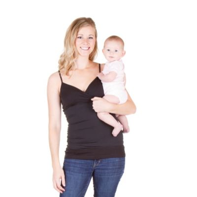 CozyBelly Size Large Original Nursing Tank in Black