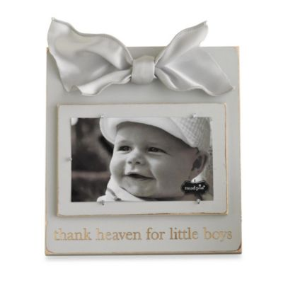 Mud Pie™ Thank Heaven for Little Boys Wood Photo Frame