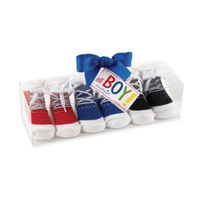 Mud Pie™ Game Time Size 0 to 12 Months 3-Pack Sneaker Socks